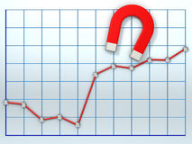 Growing business diagram Stock Photos