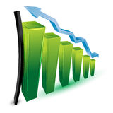 Growing business graph Royalty Free Stock Photo