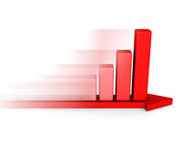 Growing business graph with arrow moving forward Royalty Free Stock Photos