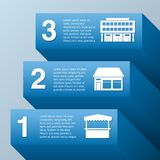 Growing business. Infographic set with commercial buildings vector illustration royalty free illustration