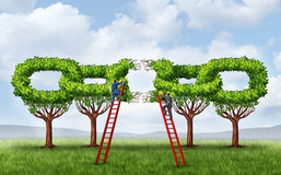 Growing A Business Partnership vector illustration