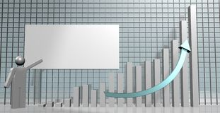 Growing chart Royalty Free Stock Photography