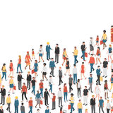 Growing chart composed of people Stock Image