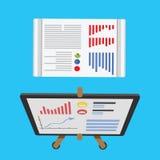 Growing chart presentation vector illustration. Royalty Free Stock Image