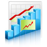 Growing charts Royalty Free Stock Image