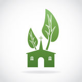 Growing Christian Church Theme Illustration Royalty Free Stock Photos