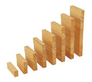 Growing column graph Stock Photo