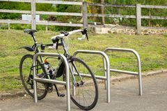 The bike rack royalty free stock images