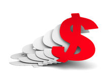 Growing Currency Dollar Symbols CBusiness Achivement Concept Stock Images