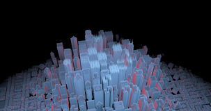 Growing digital city stock video footage