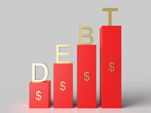 Growing Dollar Debt Royalty Free Stock Photos