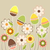 Growing easter eggs Stock Image