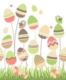 Growing easter eggs Stock Images