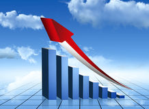 Growing economy. Financial stats report Stock Photography