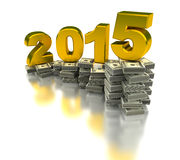 Growing Economy 2015. (computer generated image Royalty Free Stock Photos