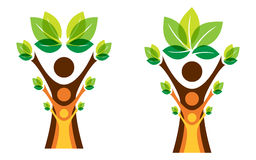 Growing family tree concept. Vector vector illustration