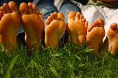 Growing feet Royalty Free Stock Image