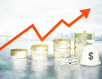 Growing finances Stock Images