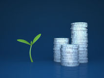 Growing funds / investments Stock Image