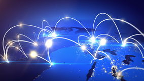 Growing Global Business Network. stock footage