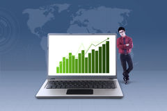 Growing global online business Stock Image