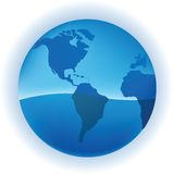 Growing Globe. A Blue Growing Globe in vector illustration Royalty Free Stock Photos
