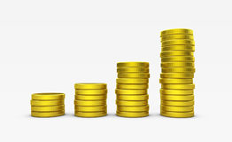 Growing Gold Coins Stack Business Success Concept Royalty Free Stock Photo