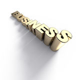 Growing golden business word Stock Images