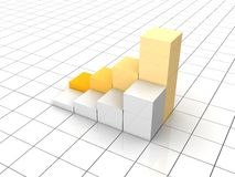 Growing graph Royalty Free Stock Photo