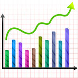Growing graph Royalty Free Stock Image