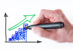 Growing graph Stock Image