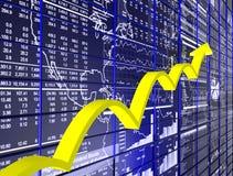Growing Graph Royalty Free Stock Photos