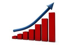 Growing graph and arrow Stock Photos