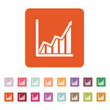 The growing graph icon. Growth and up symbol. Flat Stock Image