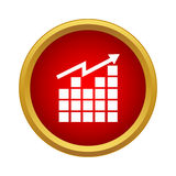 Growing graph icon, simple style Stock Images