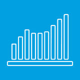 Growing graph thin line icon Stock Photography