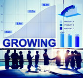 Growing Growth Success Business Aim Target Concept Royalty Free Stock Images