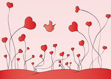 Growing hearts Royalty Free Stock Photography
