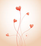 Growing hearts Royalty Free Stock Photo