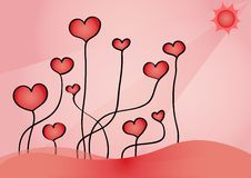 Growing hearts Royalty Free Stock Images