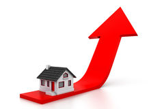 Growing home sale graph Royalty Free Stock Photo
