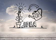 Growing idea graphic in sky Stock Photos