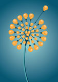 Growing Ideas. The dandelion is made of light bulbs Stock Images
