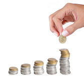 Growing income concept Stock Photos