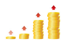 Growing incomes Royalty Free Stock Images