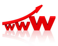 Growing internet business. 3d generated picture of a world wide web concept stock illustration