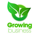 Growing Leaf logo Royalty Free Stock Photo