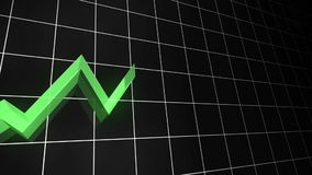 Growing Line Chart LOOPABLE GREEN stock video footage