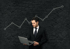 Growing line chart Royalty Free Stock Images