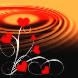 Growing love. With ripples. Graphic illustration Royalty Free Stock Photography